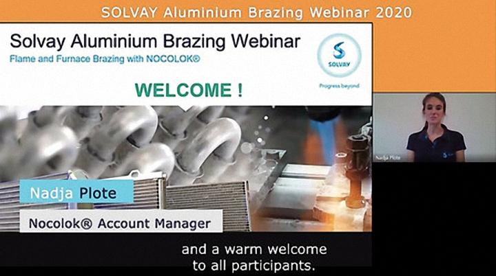 Solvay Aluminium Brazing Webinar 2020
